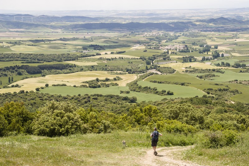 A walker on the Camino de Santiago