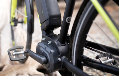Close up of an ebike