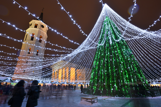 Christmas tree in Vilnius Lithuania