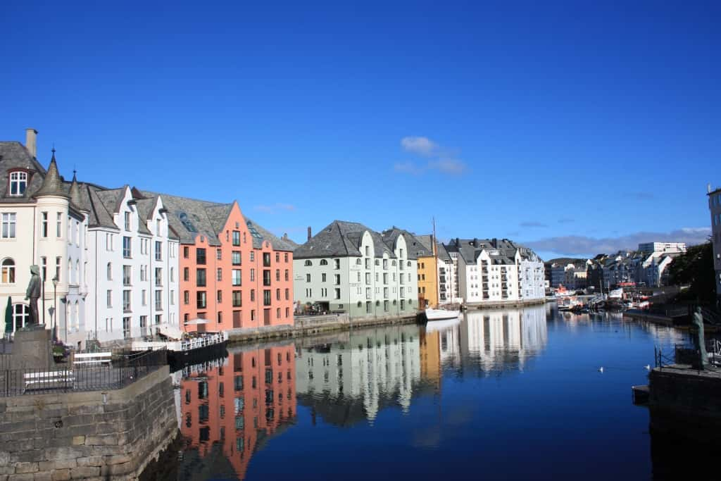 Alesund canals Norway