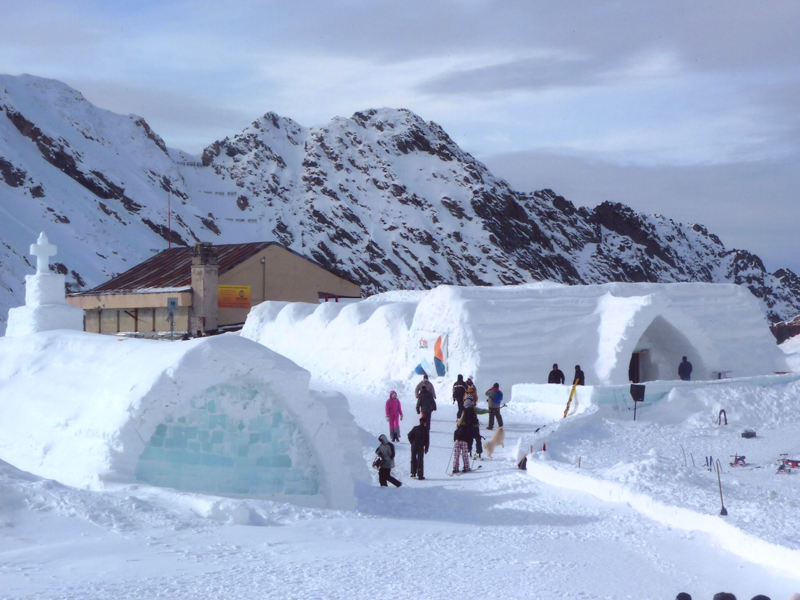 Family winter trips ice hotel