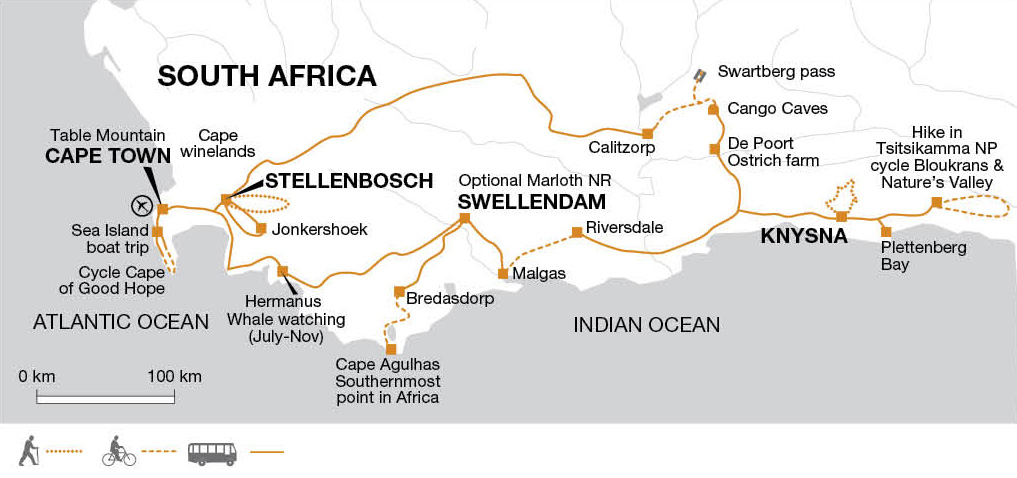 South Africa Cycling Tour