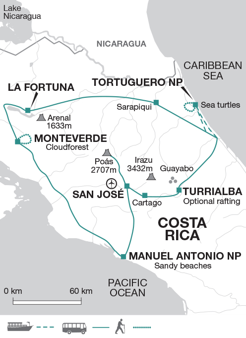 Map with Monteverde until April 2020