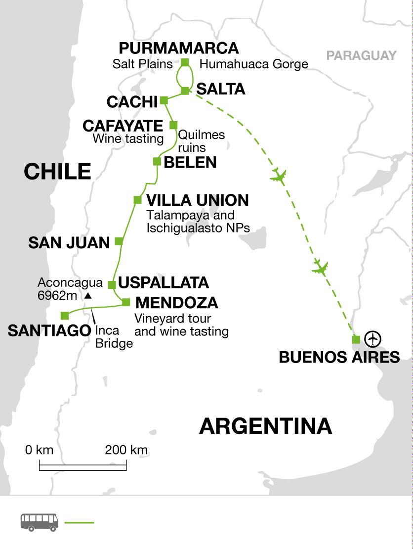 2018 itinerary map