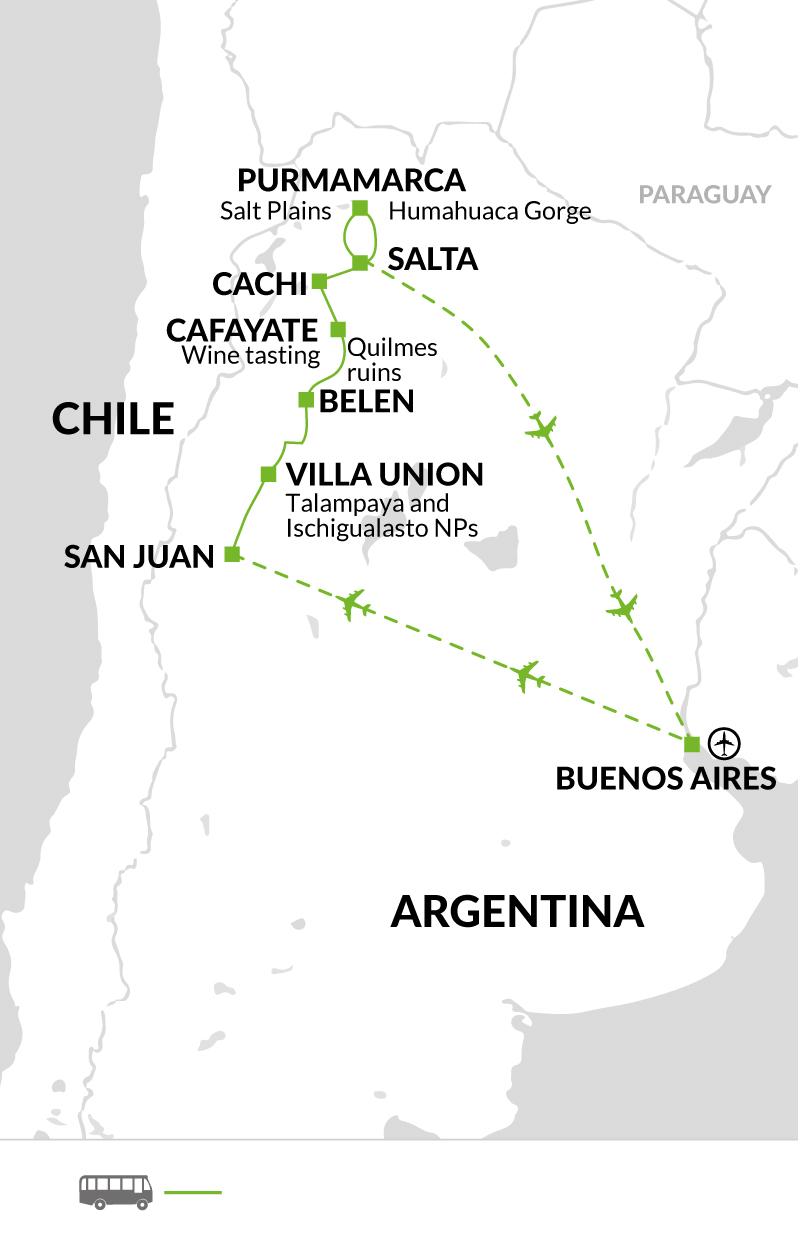 2019 itinerary map