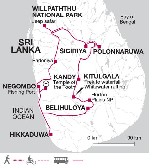 Horton Plain's Itinerary