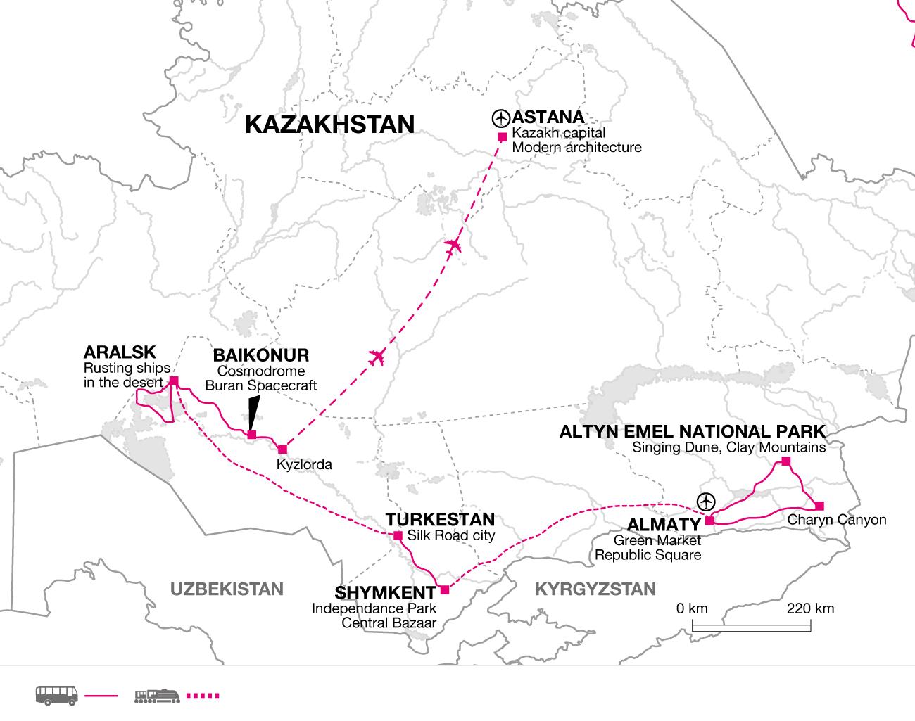2018 itinerary
