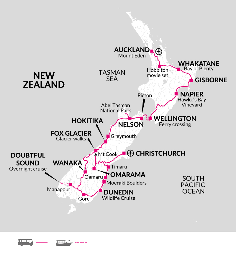 Itinerary map from October 2019
