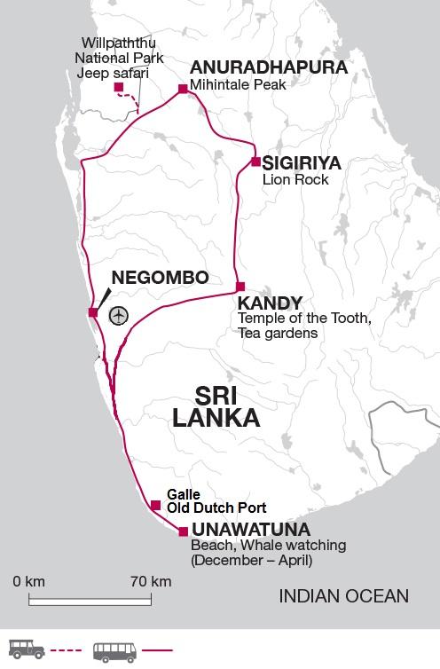 Highlights of Sri Lanka West Coast