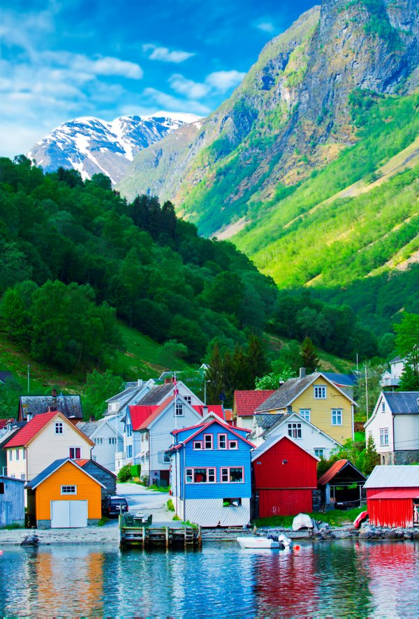 Colourful Norwegian houses