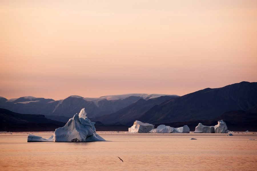 Greenland ice shapes