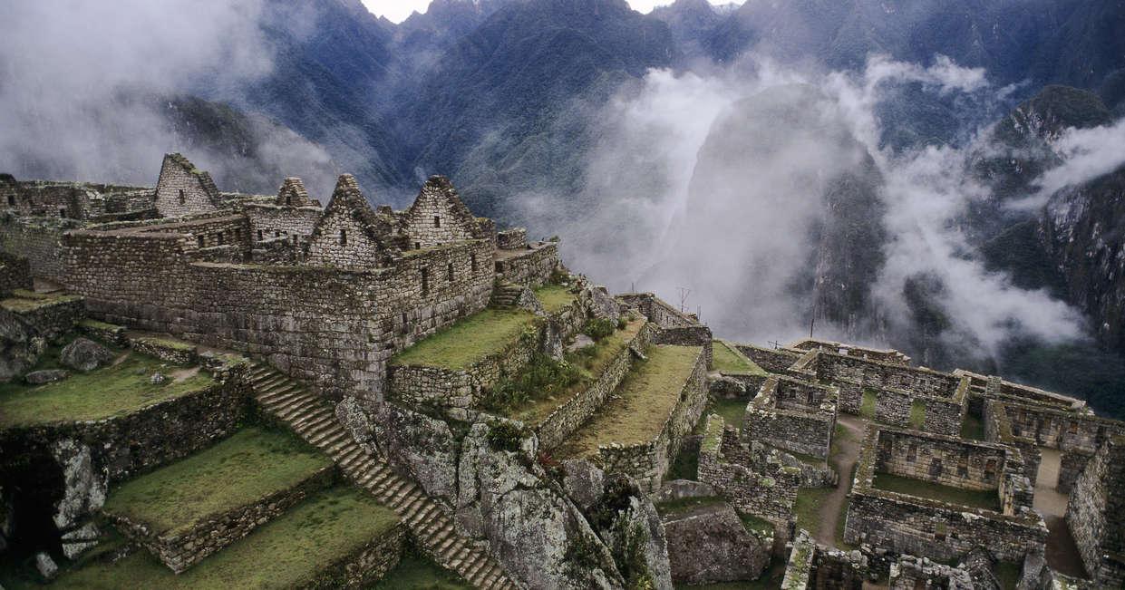 Mist-shrouded Machu Picchu