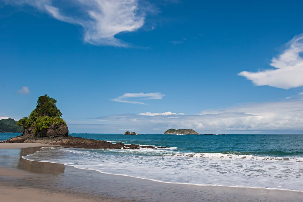 The beach at Manuel Antonio National Park