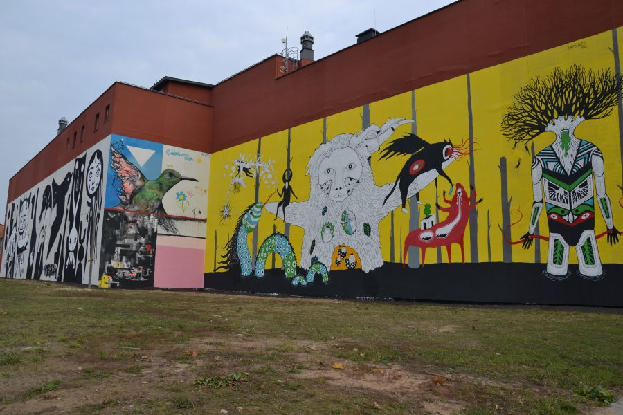 Colourful Belarusian and Brazilian fusion street art, Minsk