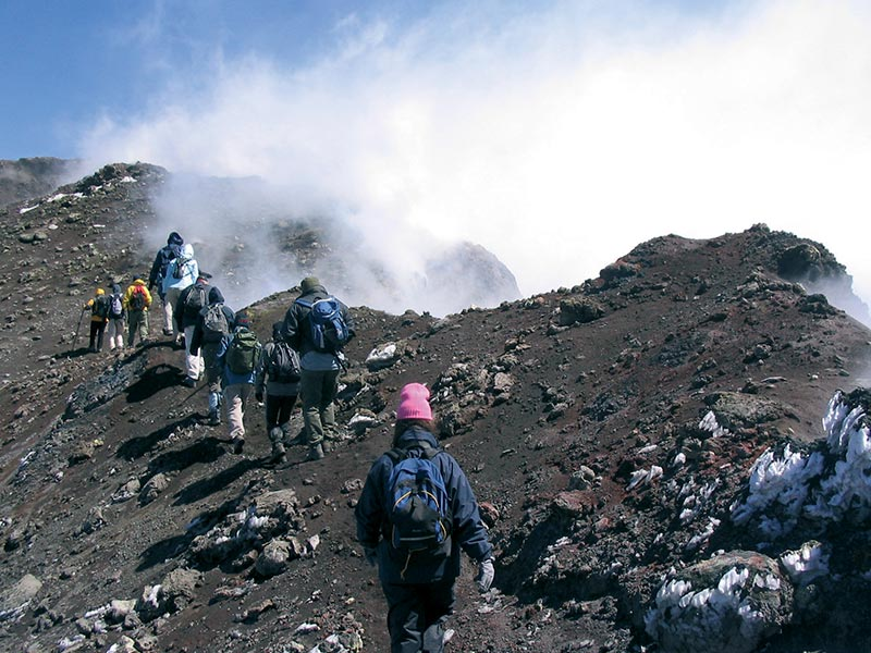 Crater hike on Etna