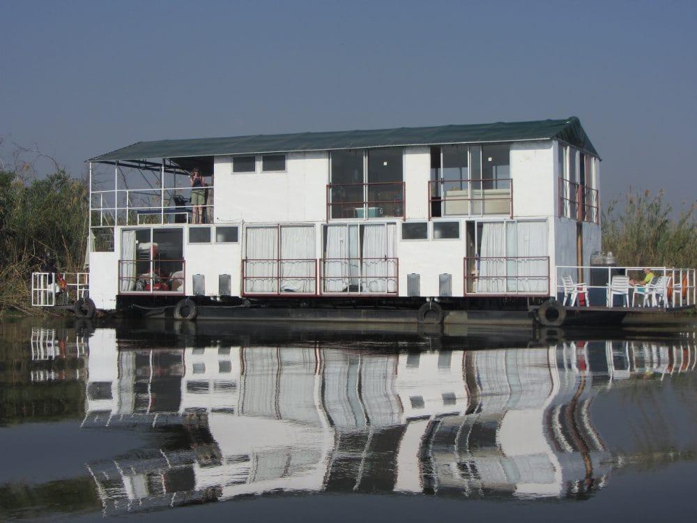 Okavango Delta houseboat