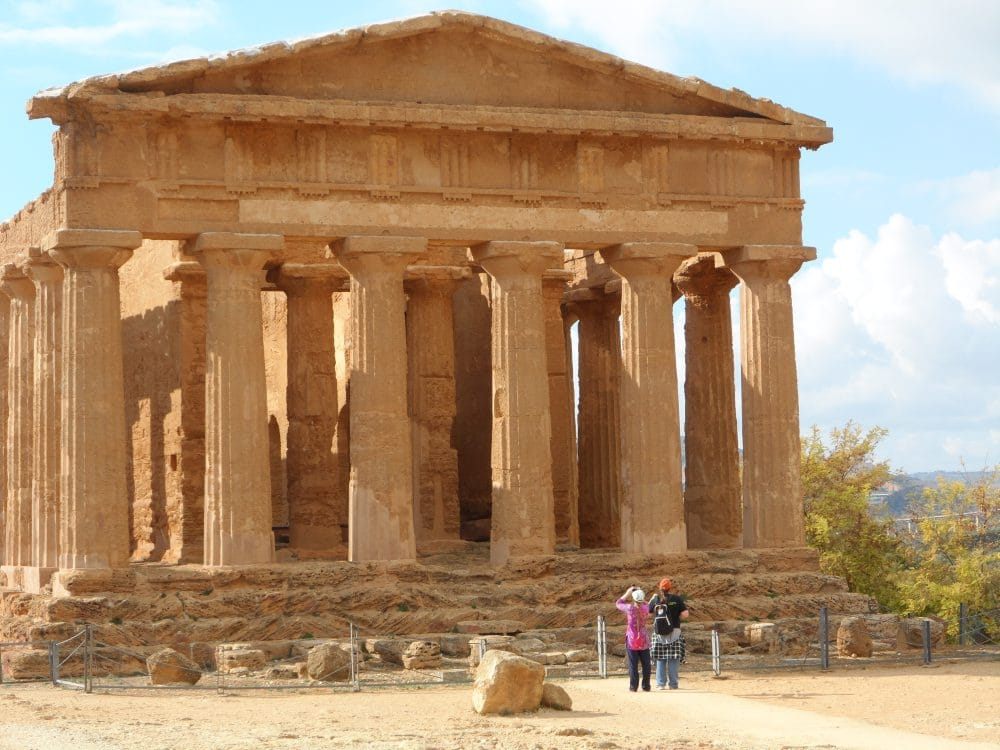 Admiring the Valley of the Temples in Agrigento