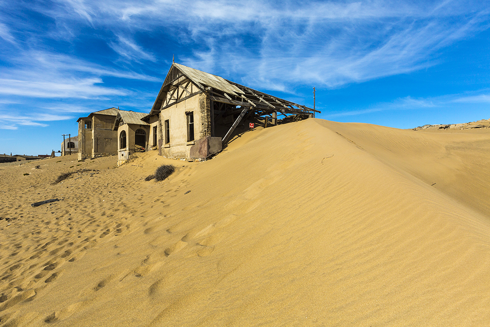 Abandoned ghost town of Luderitz