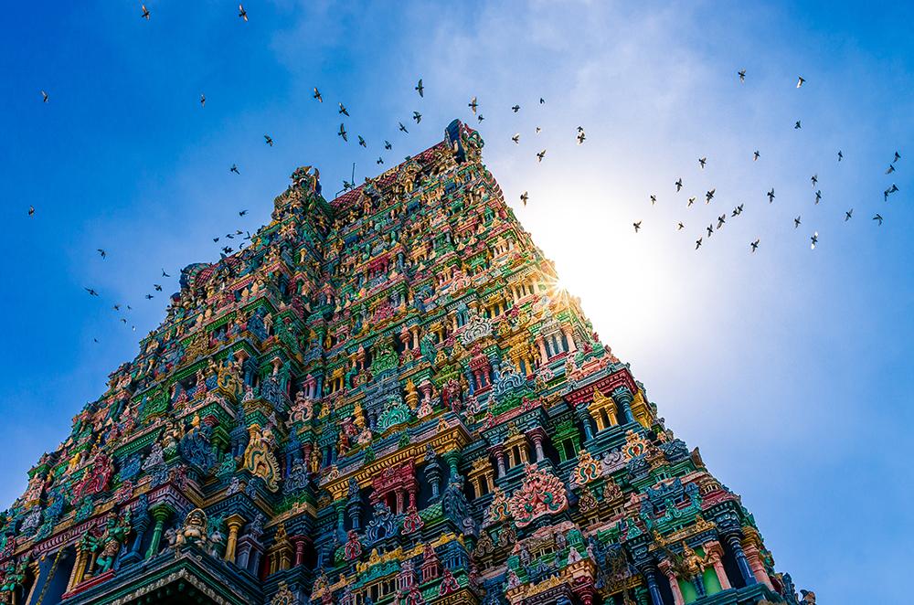 Meenakshi hindu temple in Madurai
