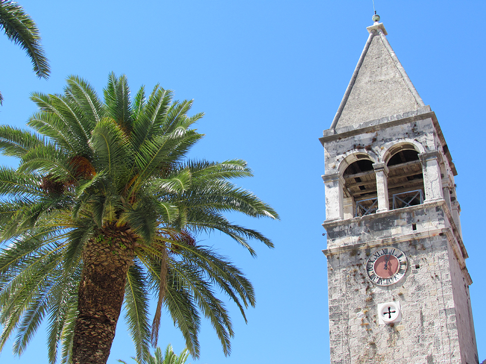 The clock tower at Saint Dominic Monastery, Trogir