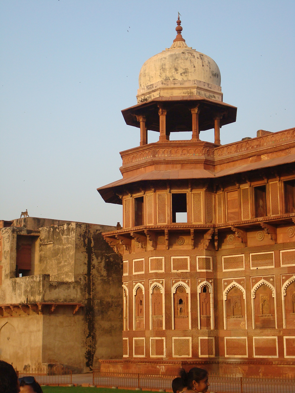 Outer walls of the Taj Mahal
