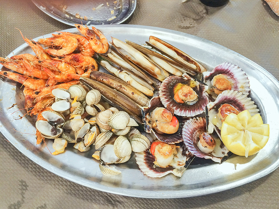 Delicious seafood of Galicia