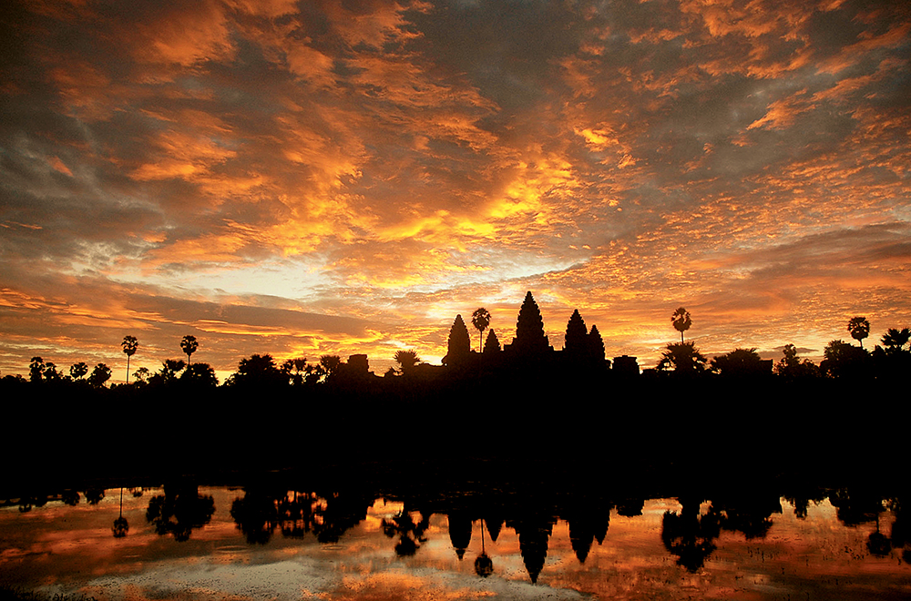 Sunset over Angkor Wat