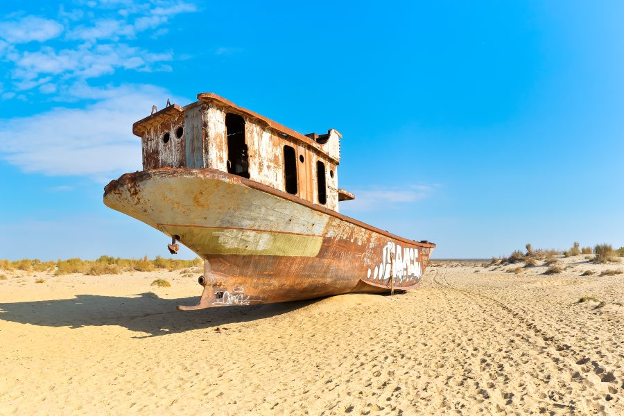 Old boat in the Aral Sea