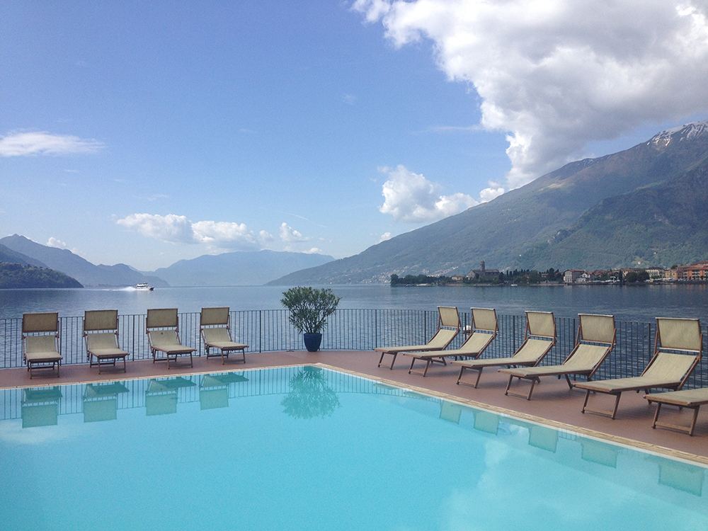 Panoramic swimming pool at the Regina Hotel
