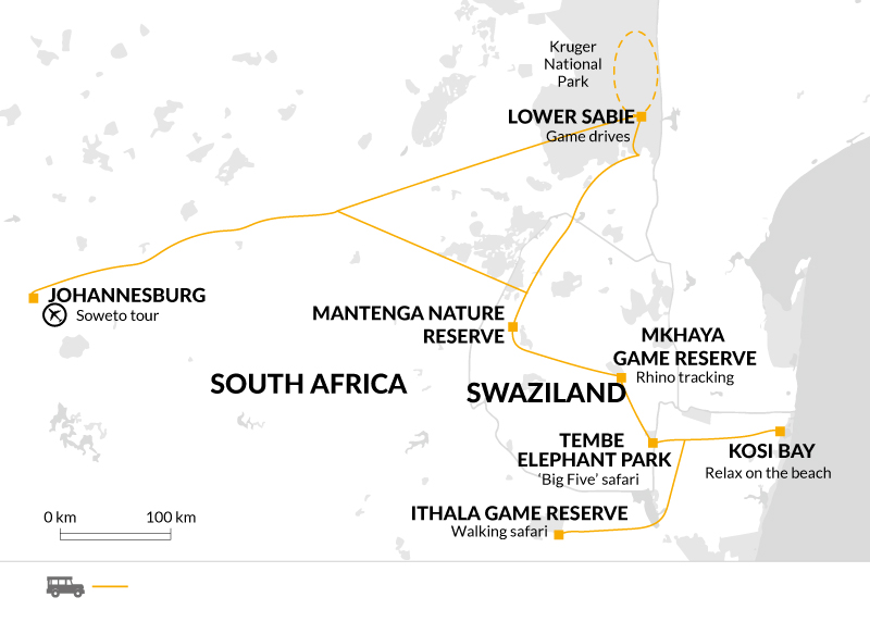 Game reserves in South Africa and Swaziland - Explore on