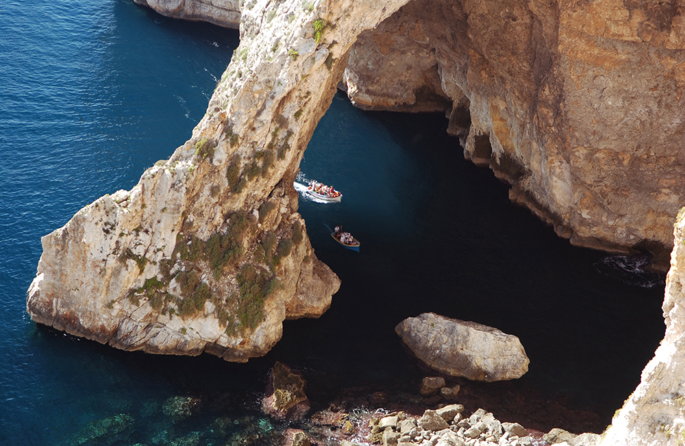 Boat trip on Blue Grotto