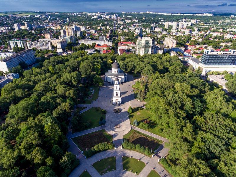 Aerial View of Chisinau
