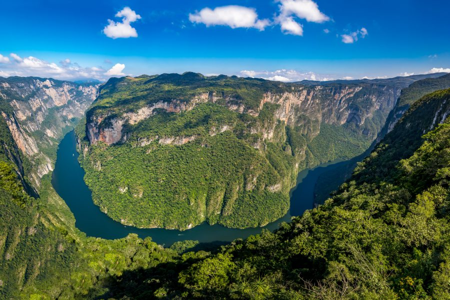 Sumidero Canyon from above