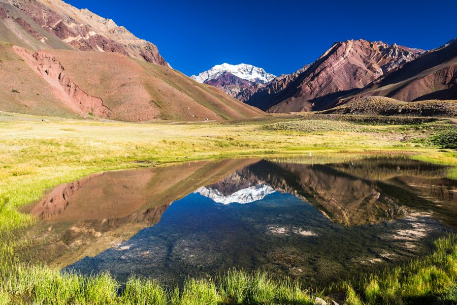 Aconcagua National Park, and views of the mountain
