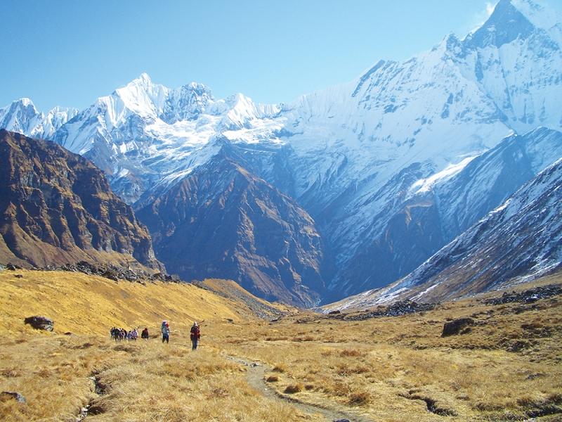 Valley under Mt Machupuchure