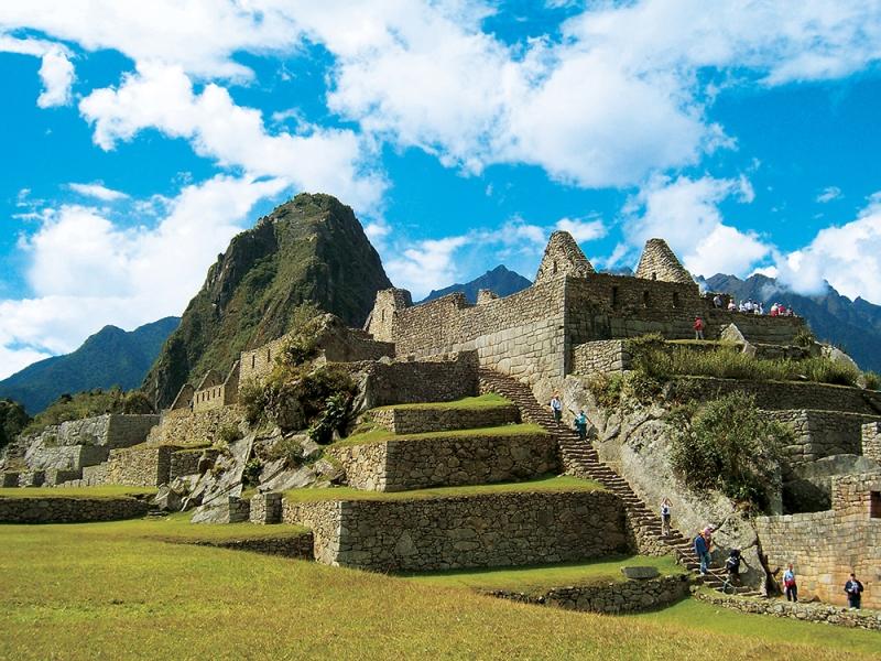 Looking back at Machu Picchu