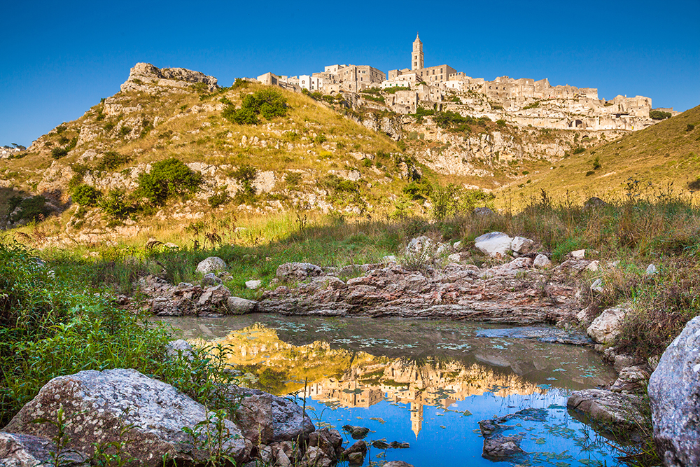 Matera viewed from the bottom of the gorge