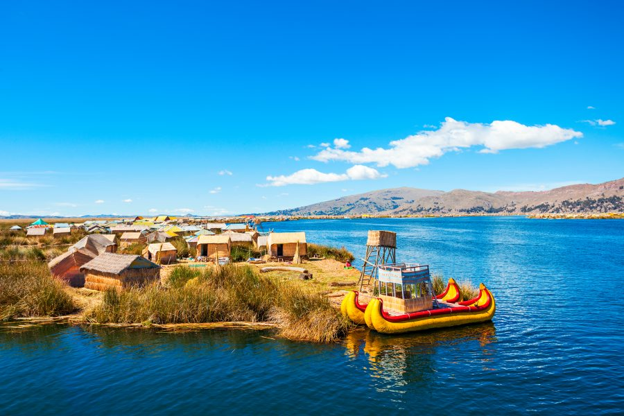 The floating islands on Titicaca
