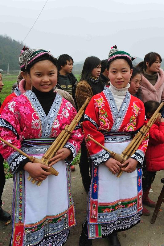 Long horn Miao festival celebrations