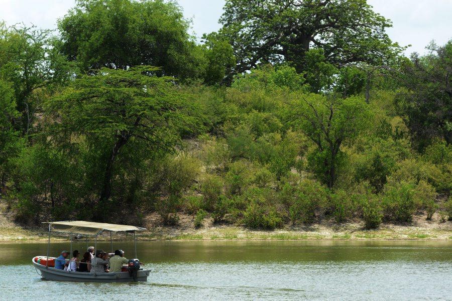 Boat trip in Selous