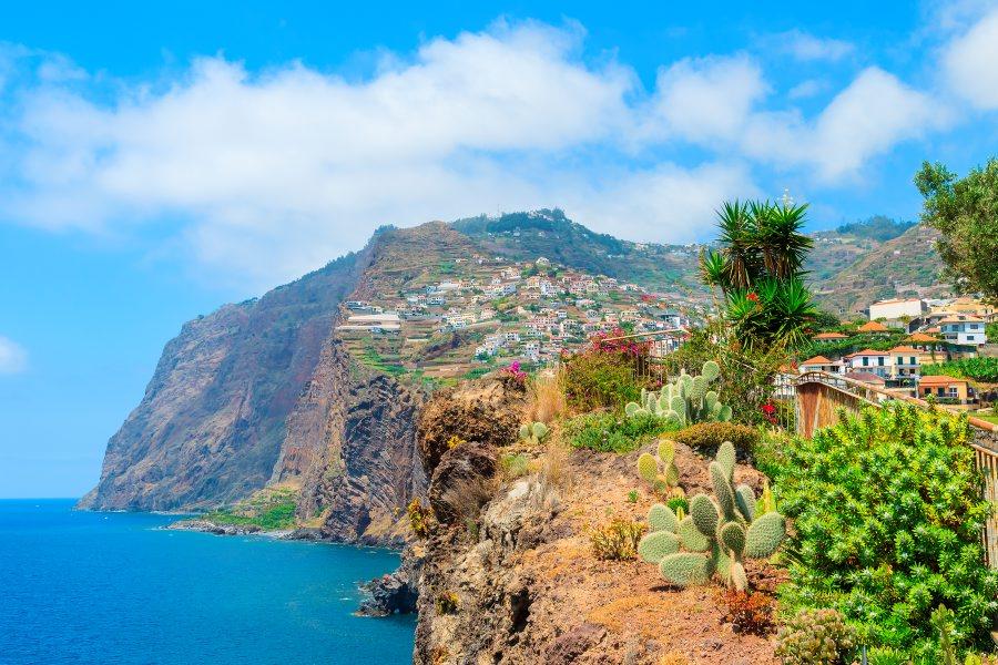 View towards Cabo Girao sea cliff