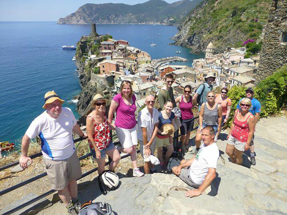 On the trail outside Vernazza