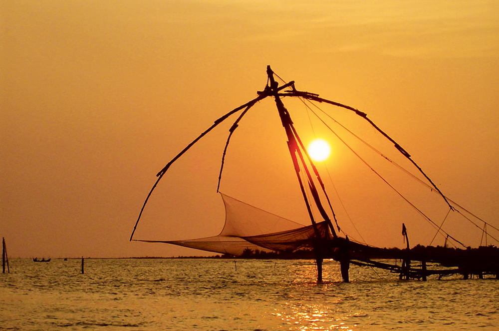 Fishing net on the Backwaters