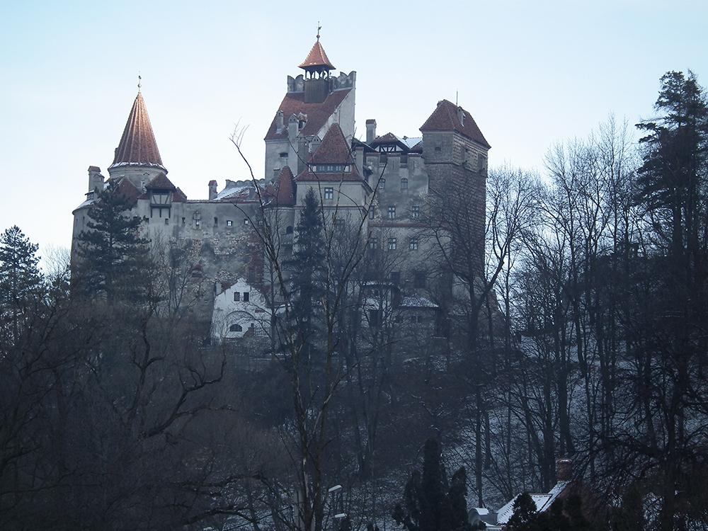 Bran Castle in winter