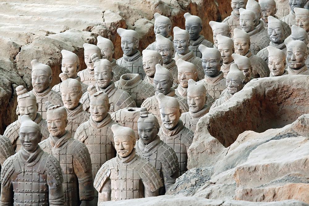 The famous Terracotta Warriors of Xian